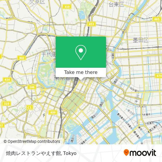 焼肉レストランやえす館 map