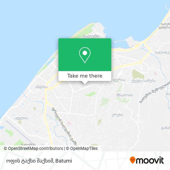 ოფის ტაქსი მაქსიმ map