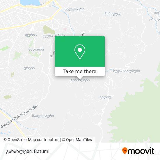 განახლება map