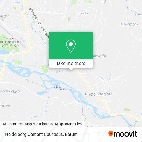Heidelberg Cement Caucasus map