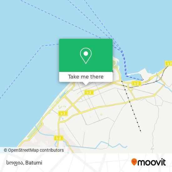 სოფია map