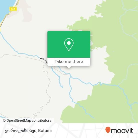 ყოროლისთავი map