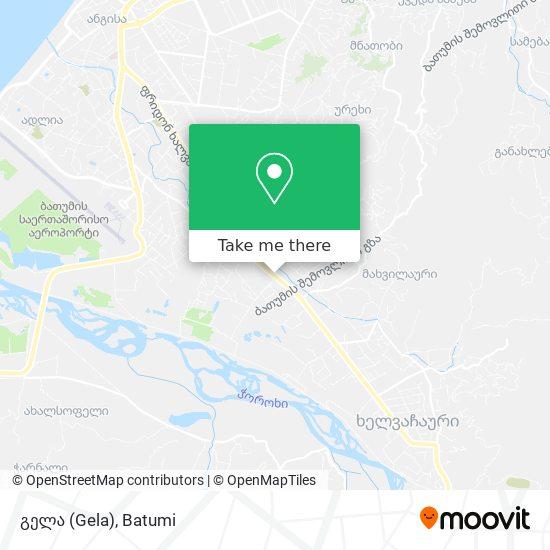 გელა (Gela) map