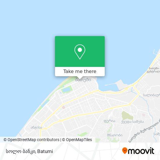სოლო ბანკი map