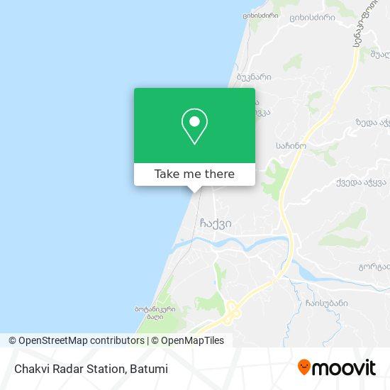 Chakvi Radar Station map