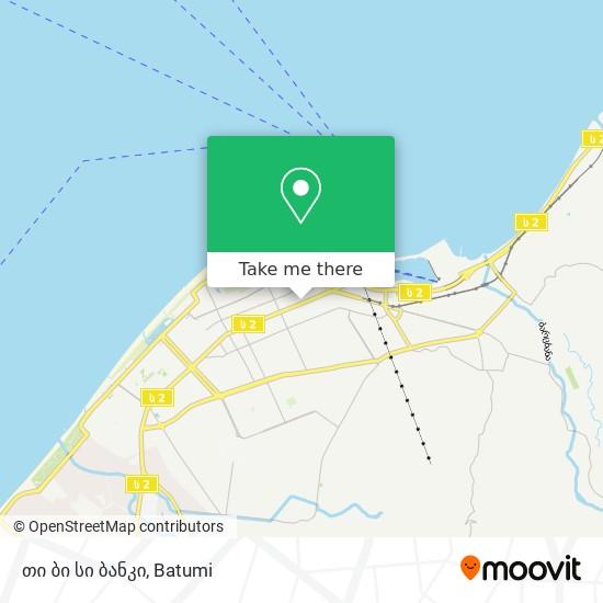 თი ბი სი ბანკი map