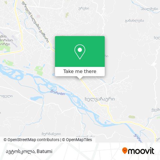 ავტოსკოლა map