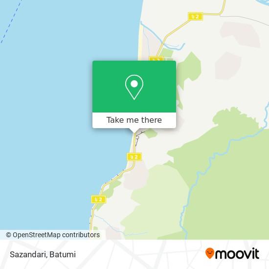 Карта Sazandari