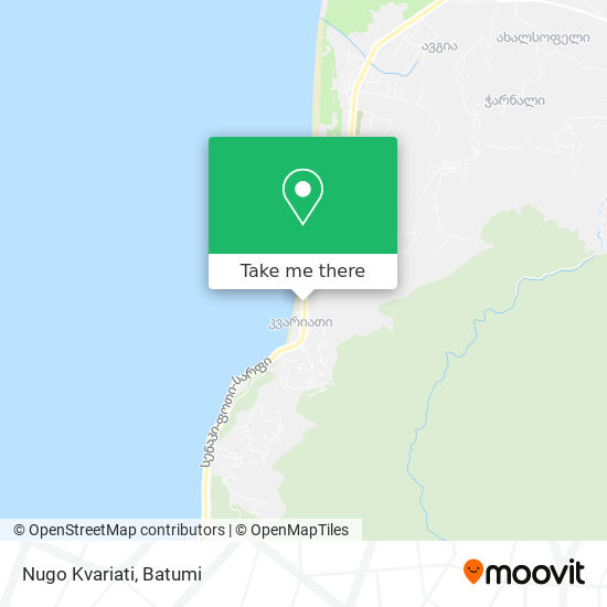 Карта Nugo Kvariati