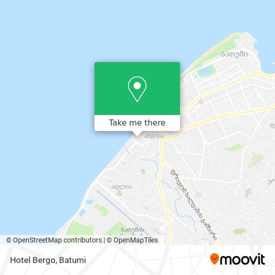Hotel Bergo map