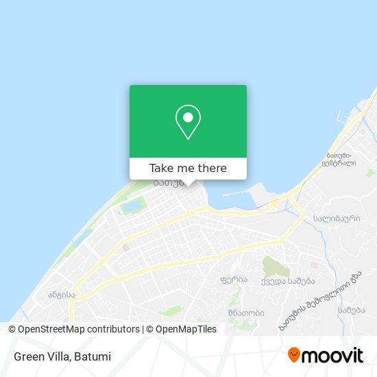 Green Villa map