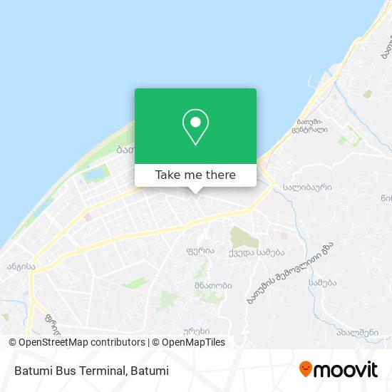 Batumi Bus Terminal map