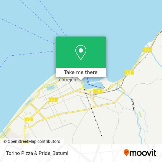Torino Pizza & Pride map