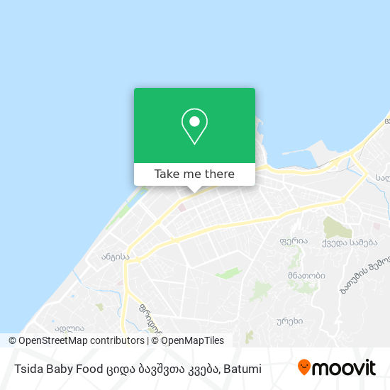 Tsida Baby Food ციდა ბავშვთა კვება map