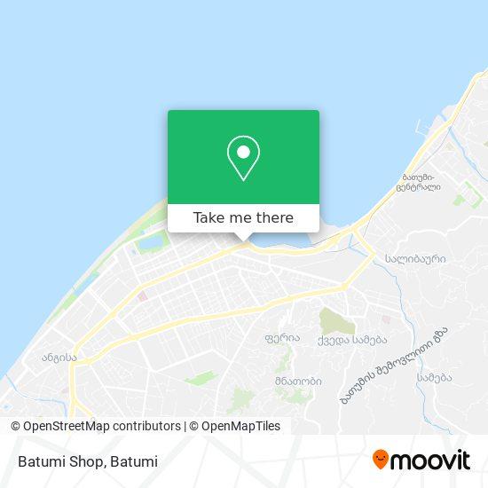 Batumi Shop map