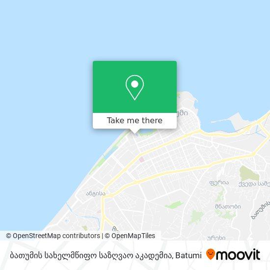 ბათუმის სახელმწიფო საზღვაო აკადემია map