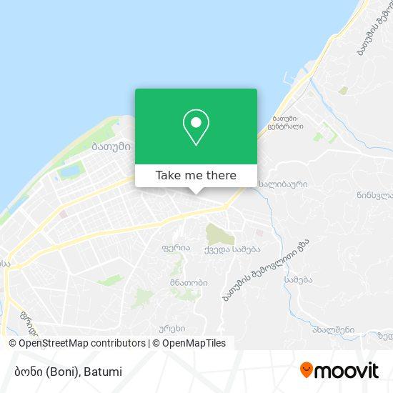 ბონი (Boni) map