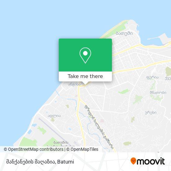 მანქანების მაღაზია map