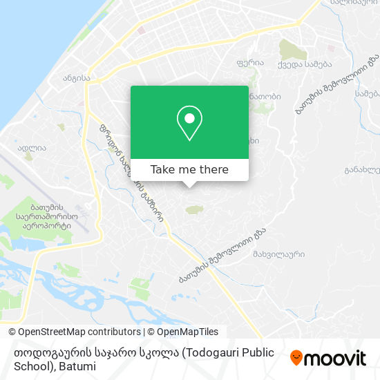 თოდოგაურის საჯარო სკოლა (Todogauri Public School) map