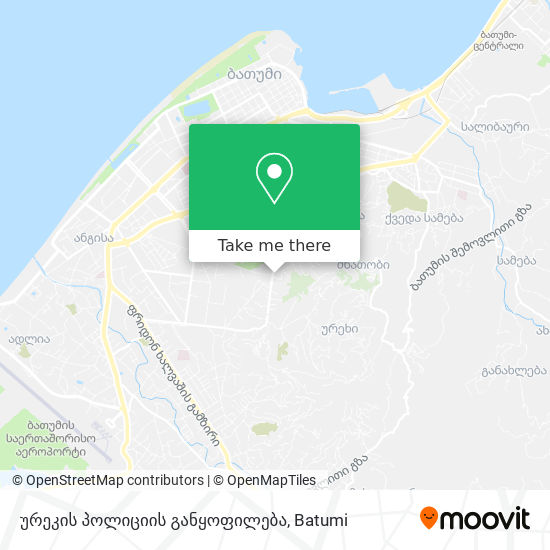 ურეკის პოლიციის განყოფილება map