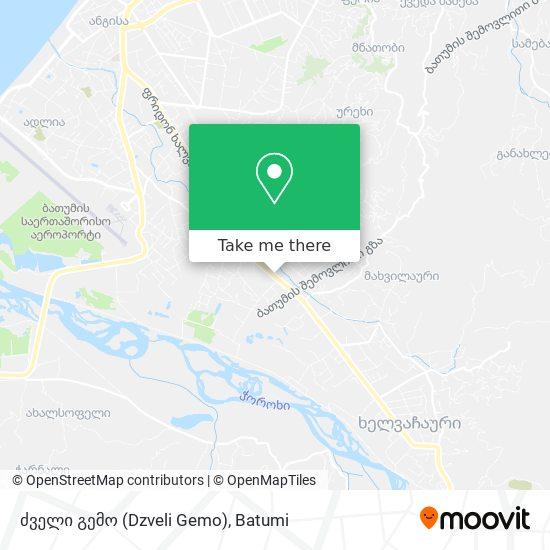 Карта ძველი გემო (Dzveli Gemo)