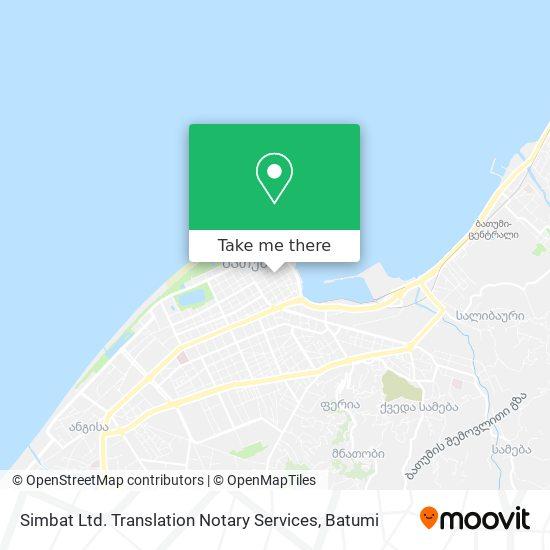 Simbat Ltd. Translation Notary Services map