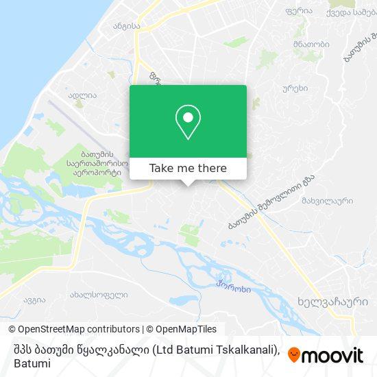 შპს ბათუმი წყალკანალი (Ltd Batumi Tskalkanali) map