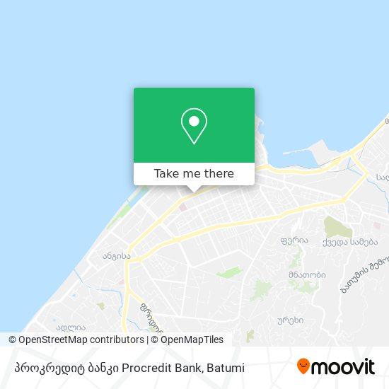 პროკრედიტ ბანკი Procredit Bank map