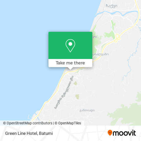 Green Line Hotel map