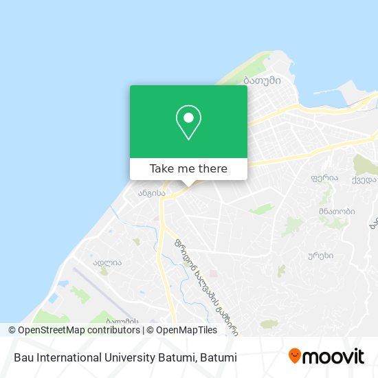 Bau International University Batumi map