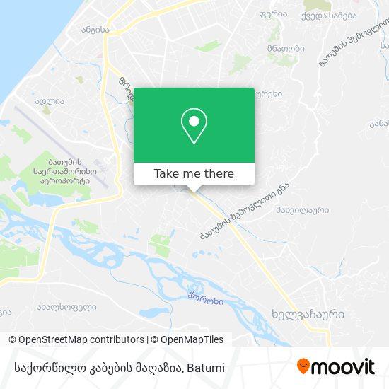 საქორწილო კაბების მაღაზია map