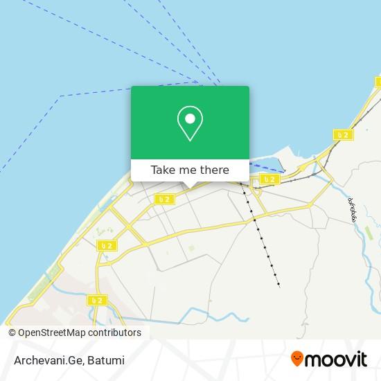 Archevani.Ge map