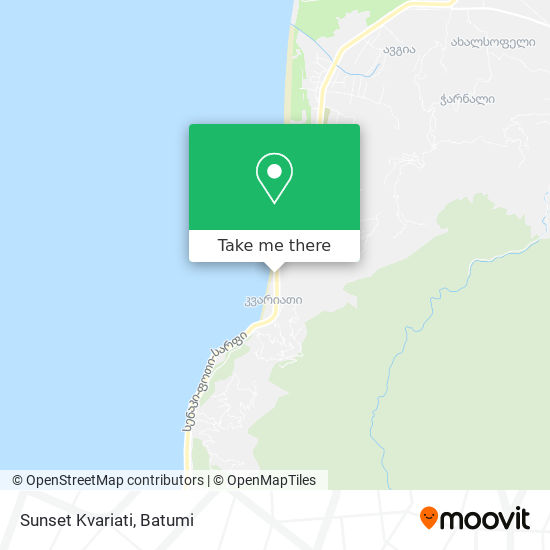 Sunset Kvariati map