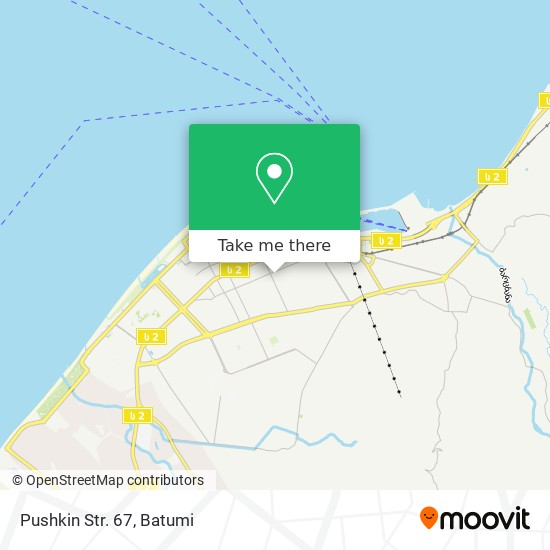 Pushkin Str. 67 map
