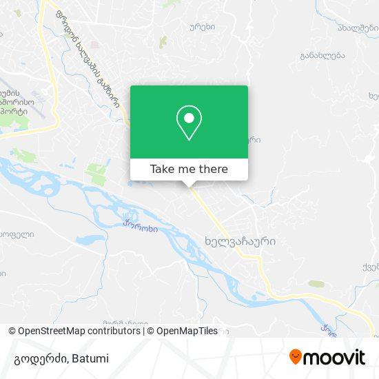 გოდერძი map