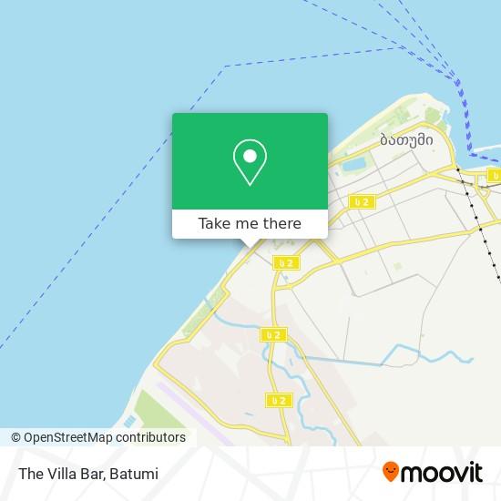 The Villa Bar map