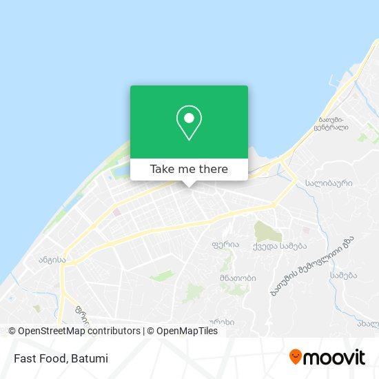 Карта Fast Food