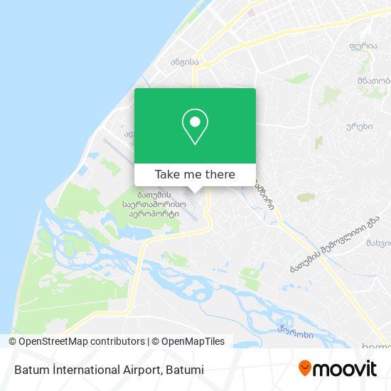 Batum İnternational Airport map