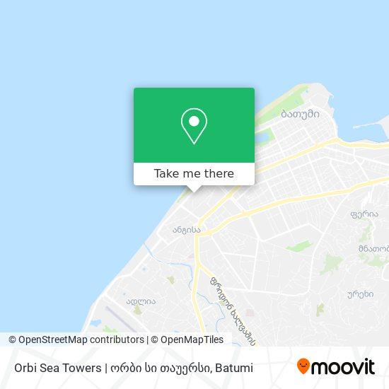 Orbi Sea Towers | ორბი სი თაუერსი map