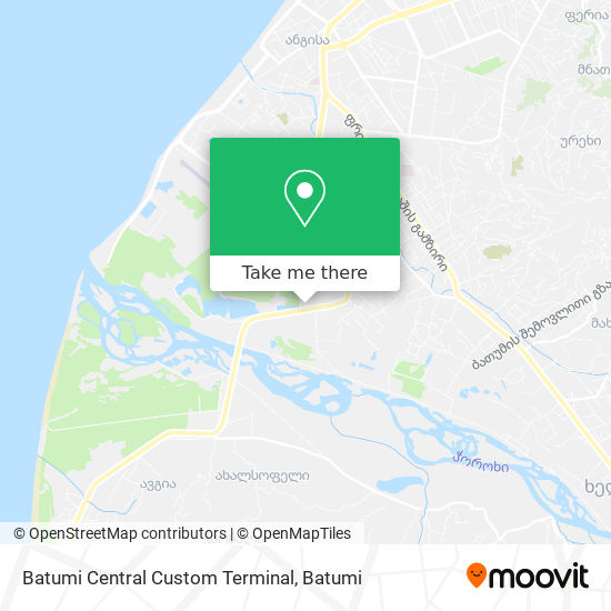 Batumi Central Custom Terminal map