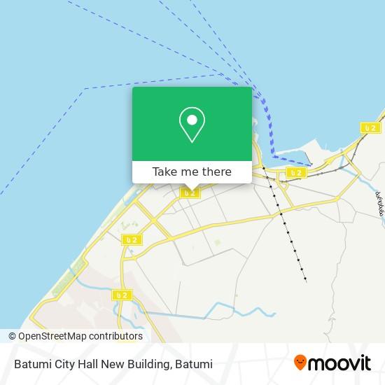 Batumi City Hall New Building map