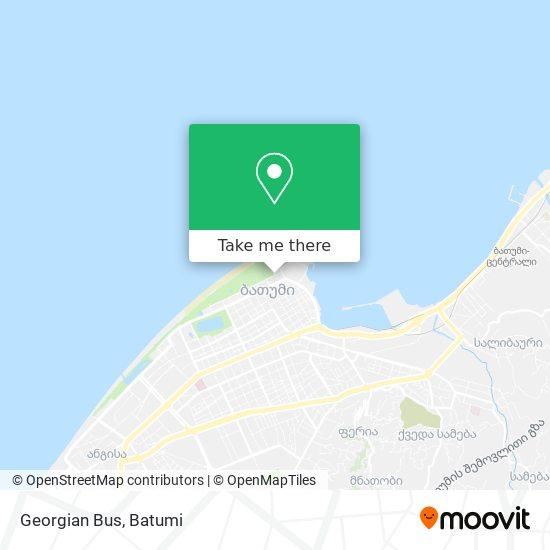 Georgian Bus map