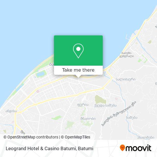 Leogrand Hotel & Casino Batumi map