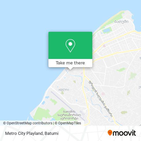Metro City Playland map