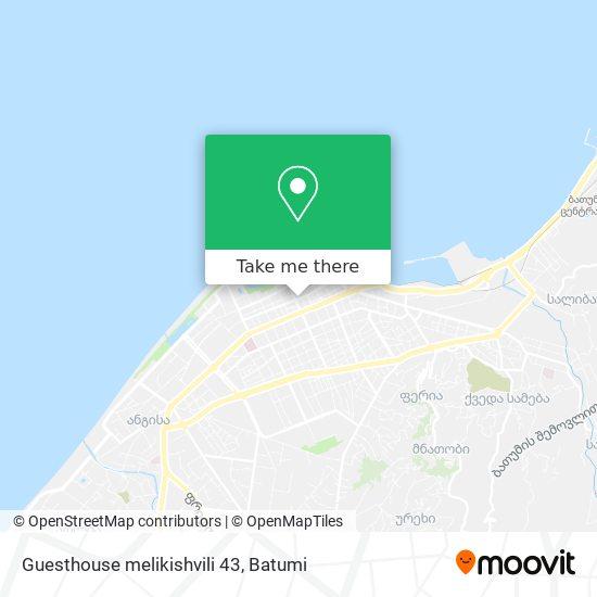 Guesthouse melikishvili 43 map