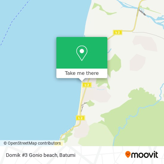 Domik #3 Gonio beach map
