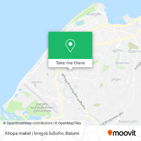 Khopa maket | ხოფას ბაზარი map