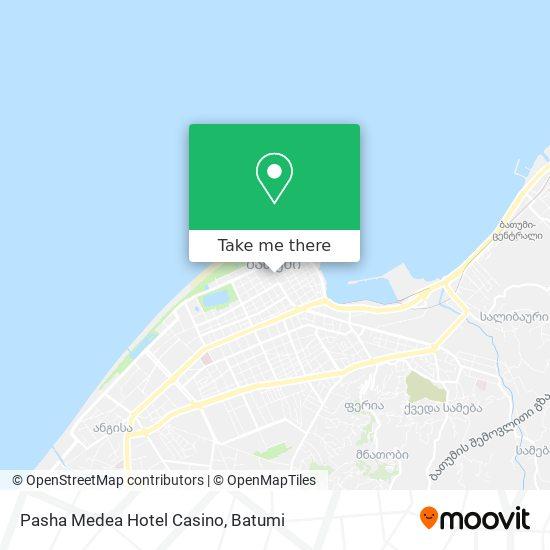 Pasha Medea Hotel Casino map