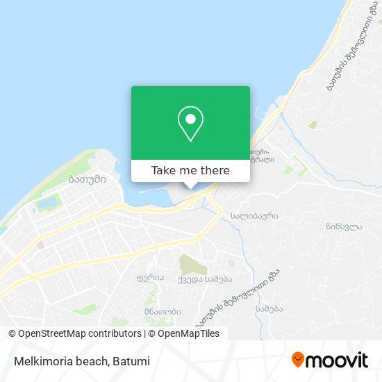 Melkimoria beach map
