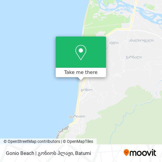 Gonio Beach   გონიოს პლაჟი map